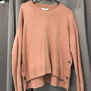 Madewell Cropped Button Sweater